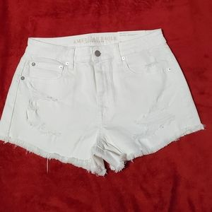 American Eagle Outfitters Distressed White Shorts